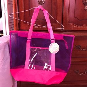 Handbags - NWT purple/pink beach bag